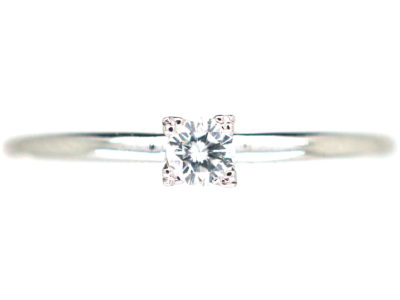 14ct White Gold Diamond Solitaire Ring by Bucherer