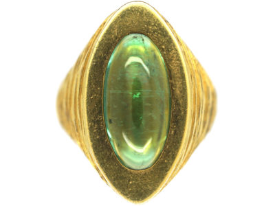 18ct Gold & Green Tourmaline Ring by Tiffany & Co