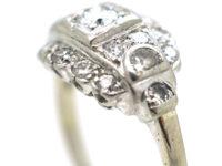 Art Deco 14ct White Gold & Diamond Ring