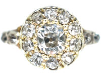 Georgian 18ct Gold Diamond Cluster Ring