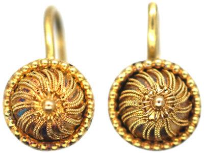 Georgian 18ct Gold Earrings