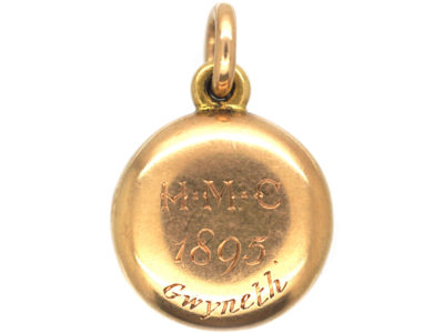 Victorian 15ct Gold Round Locket