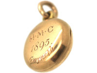 Victorian 15ct Gold Round Locket