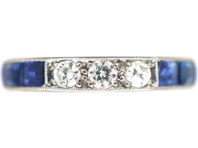 Art Deco Platinum, Sapphire & Diamond Eternity Ring