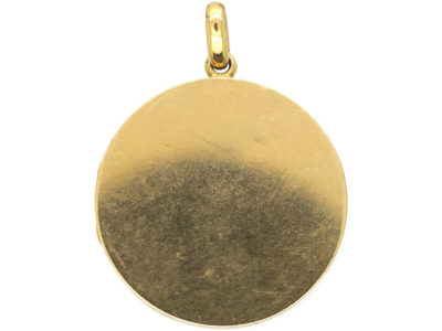Edwardian 18ct Gold Round Locket