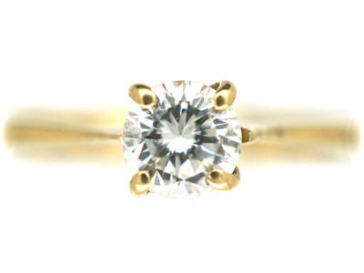 18ct Gold Diamond Soltaire Ring