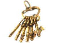 18ct Gold Six Keys Pendant Spelling Lisboa