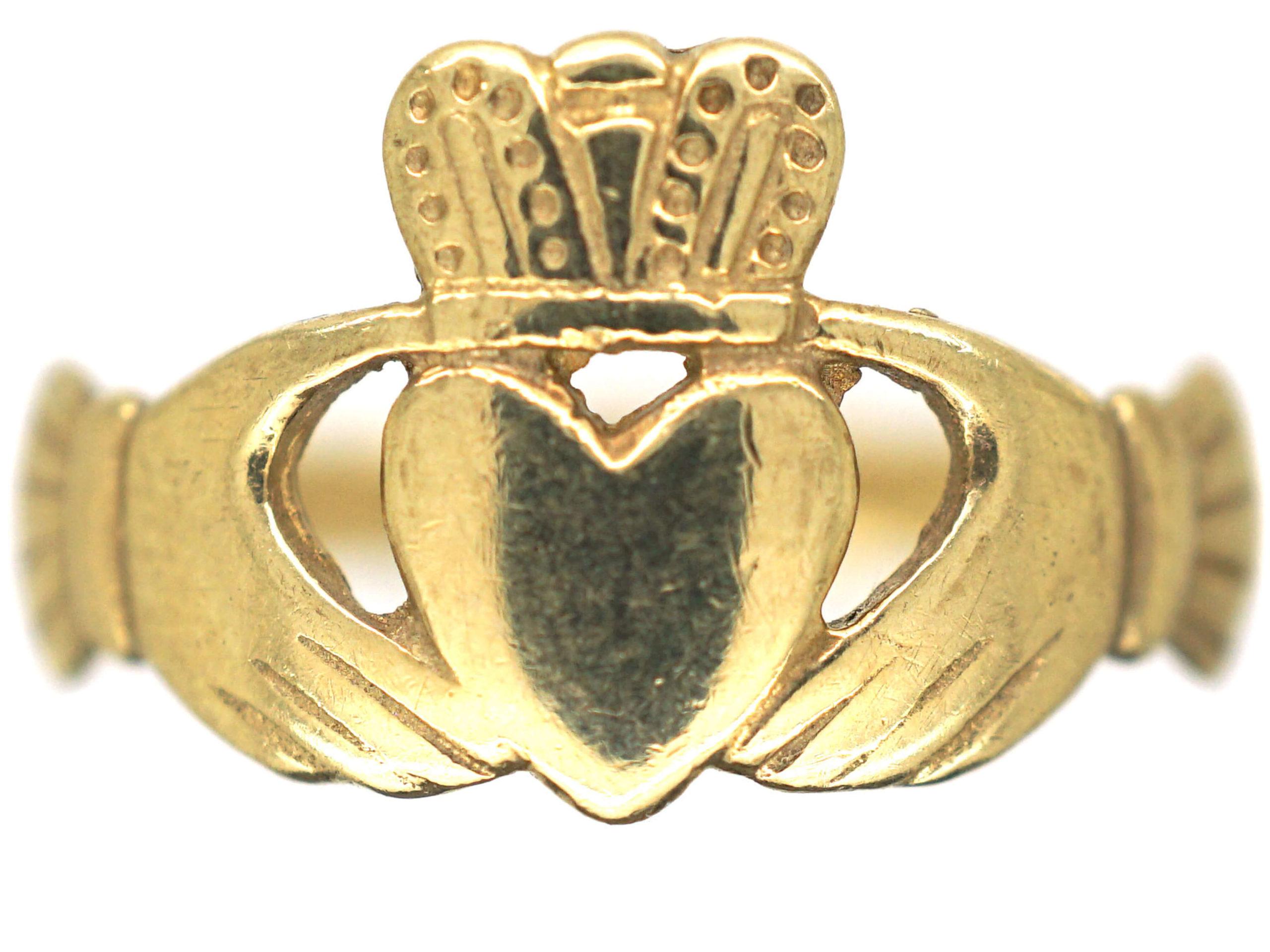 Irish 9ct Gold Claddagh Ring - The Antique Jewellery Company