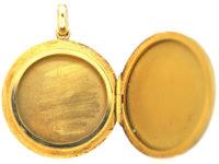 Edwardian 18ct Gold Round Locket