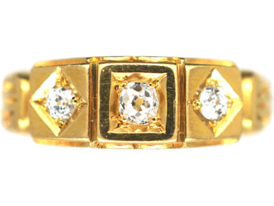 Victorian 18ct Gold Three Stone Diamond Ring