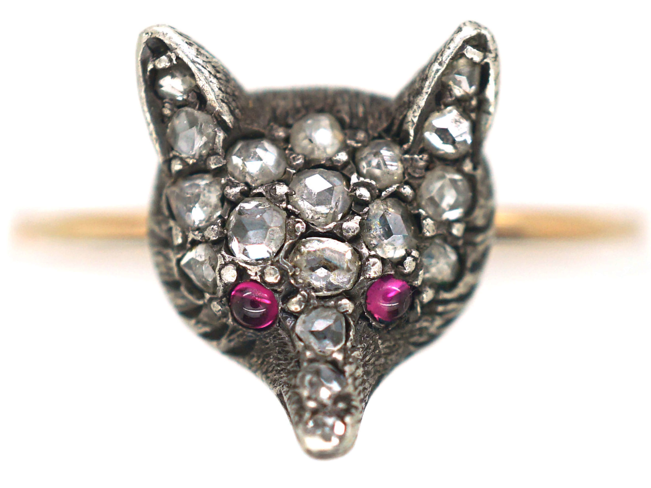 Rose Diamond Fox Ring