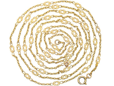 Edwardian 15ct Gold Knotty Chain