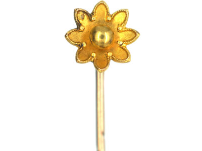 Victorian 15ct Gold Flower Tie Pin