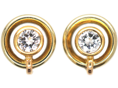 18ct Gold & Diamond Stud Earrings
