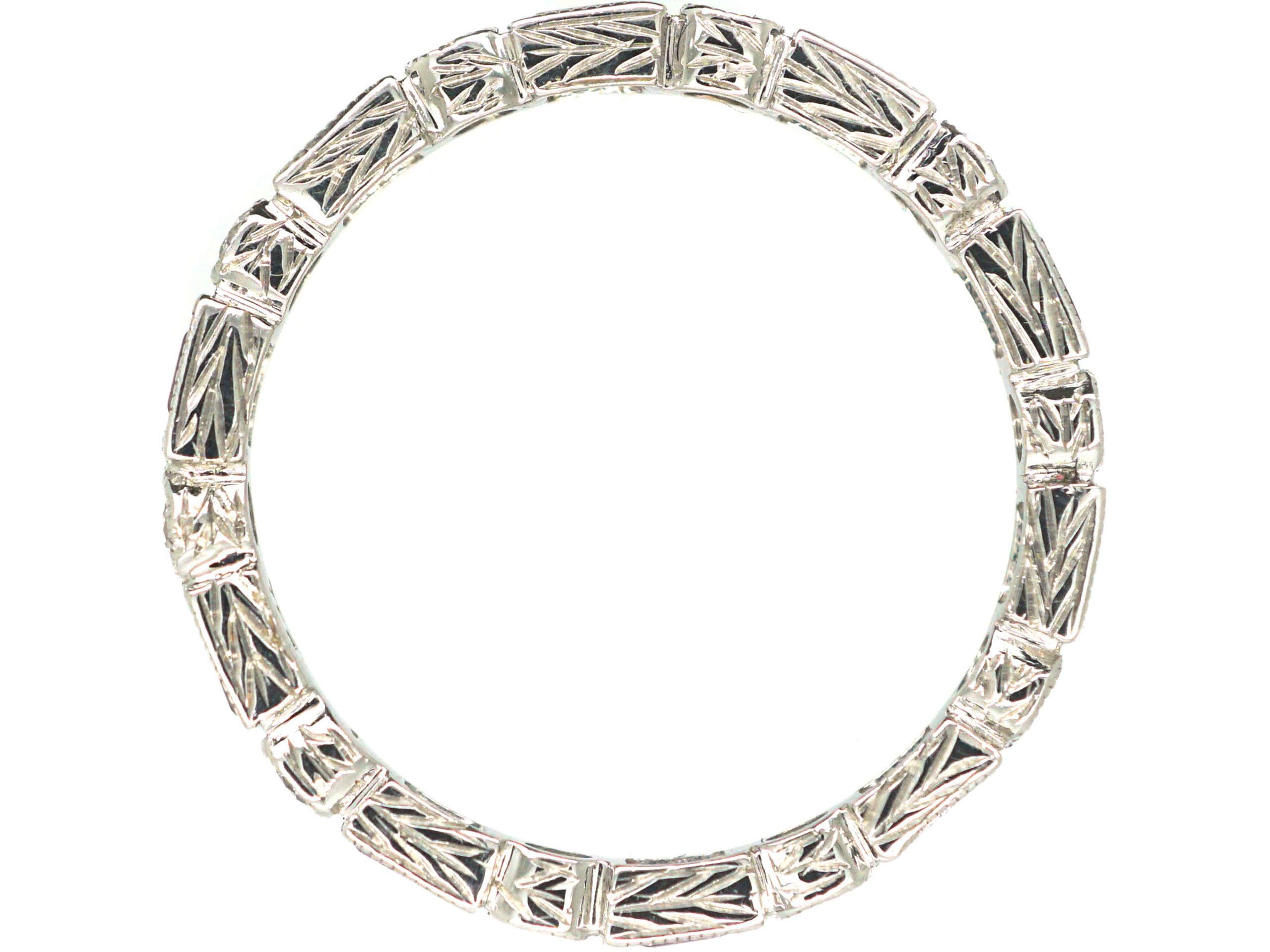 18ct White Gold Pink Sapphire & Diamond Eternity Ring