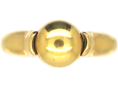 18ct Gold Revolving Sphere Ring