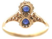 18ct Gold Sapphire & Diamond Figure of Eight Ring