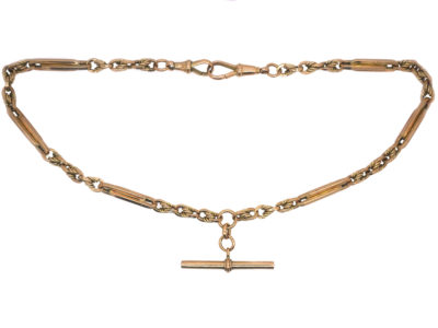 Edwardian 9ct Gold Fancy Albert Chain