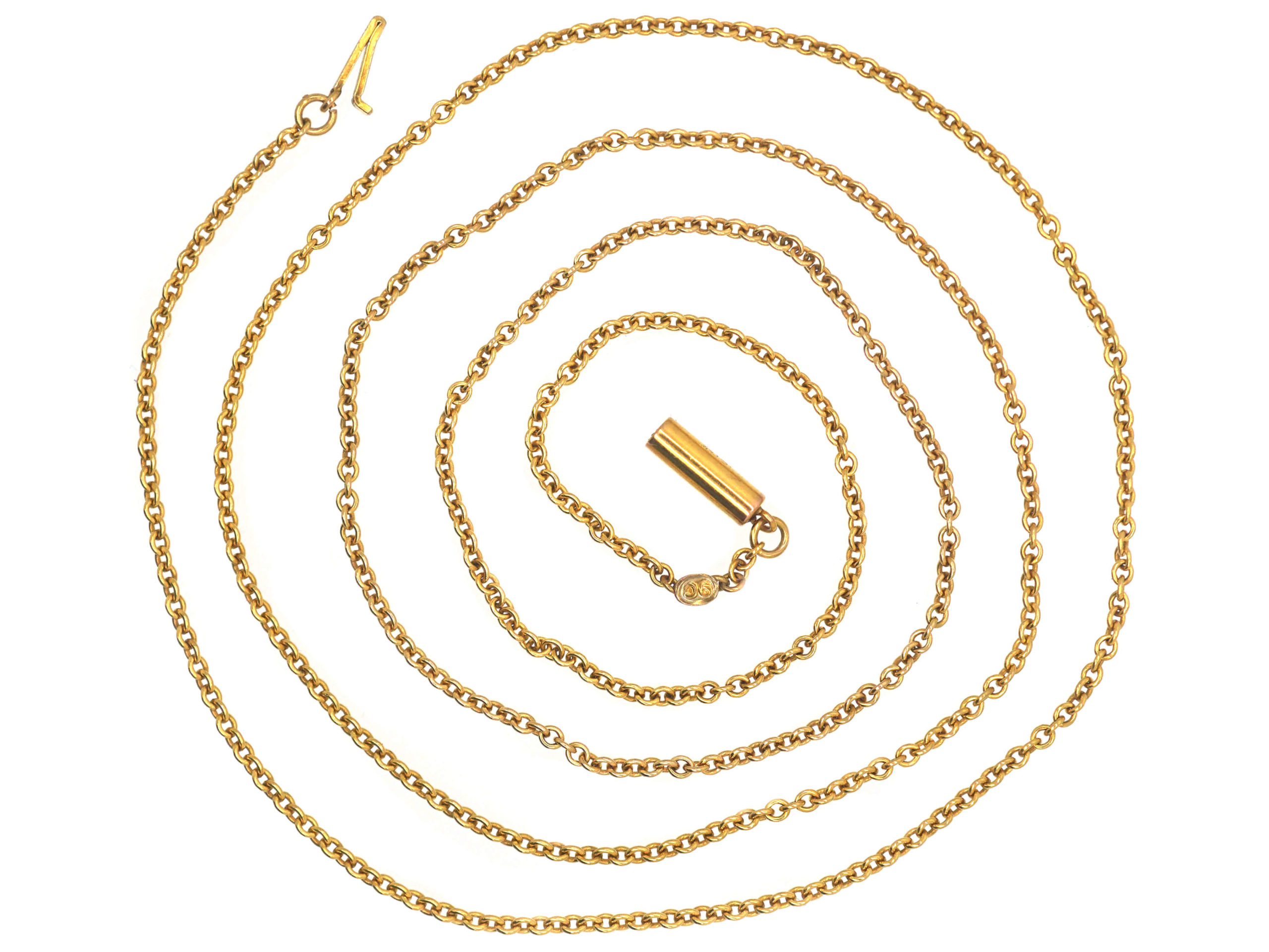 Edwardian 9ct Yellow Gold Trace Link Chain