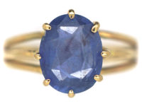 18ct Gold Sapphire Solitaire Ring