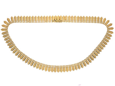 French 18ct Gold Fringe Necklace