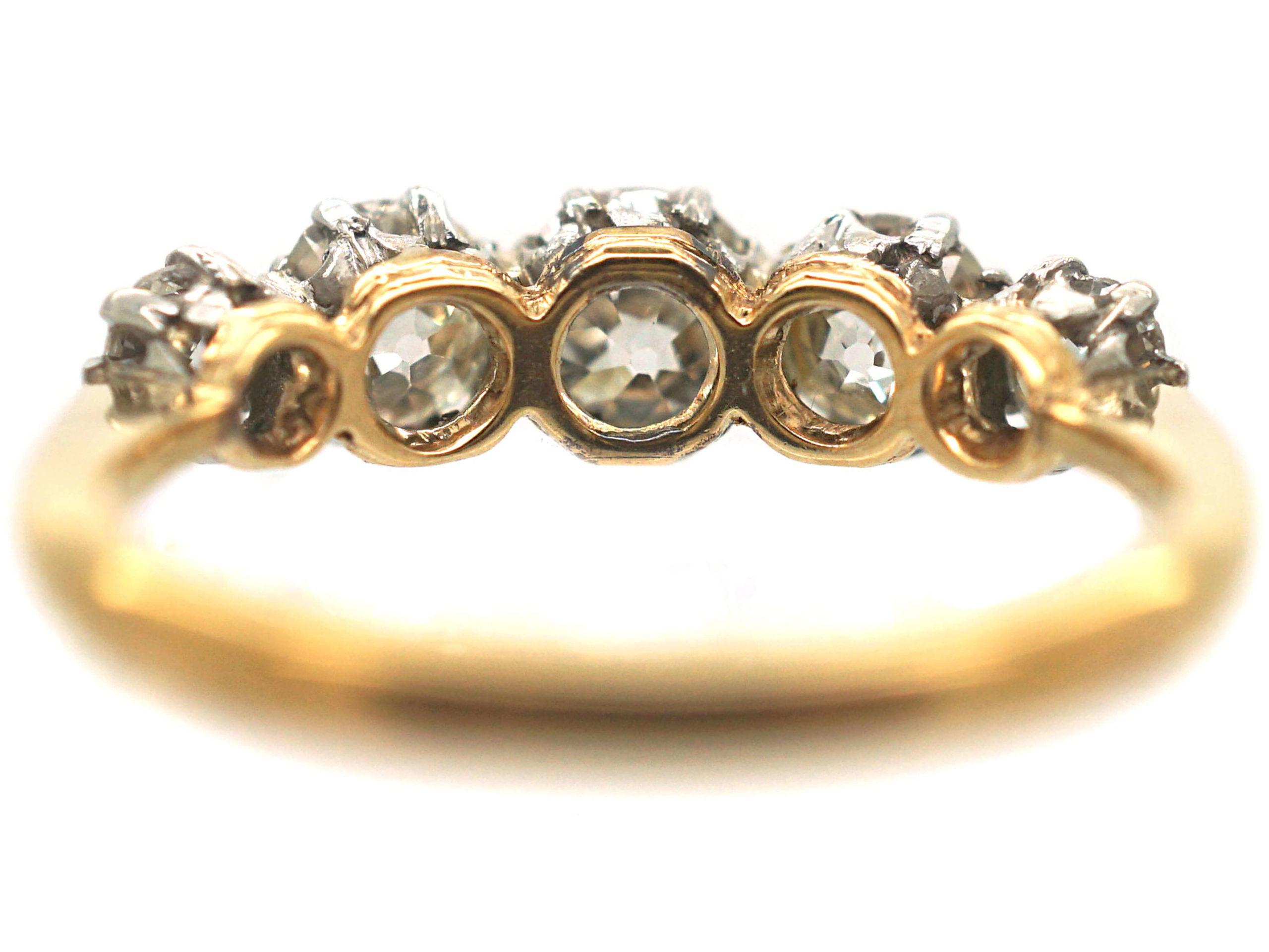 18ct Gold & Platinum Five Stone Diamond Ring