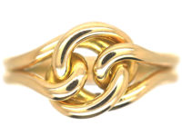 Late Victorian 18ct Gold Lover's Knot Ring