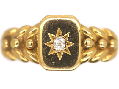 Edwardian 18ct Gold & Diamond Ring