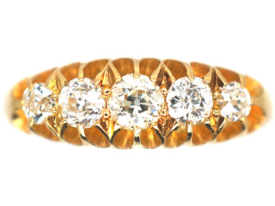 18ct Gold Edwardian Five Stone Diamond Ring