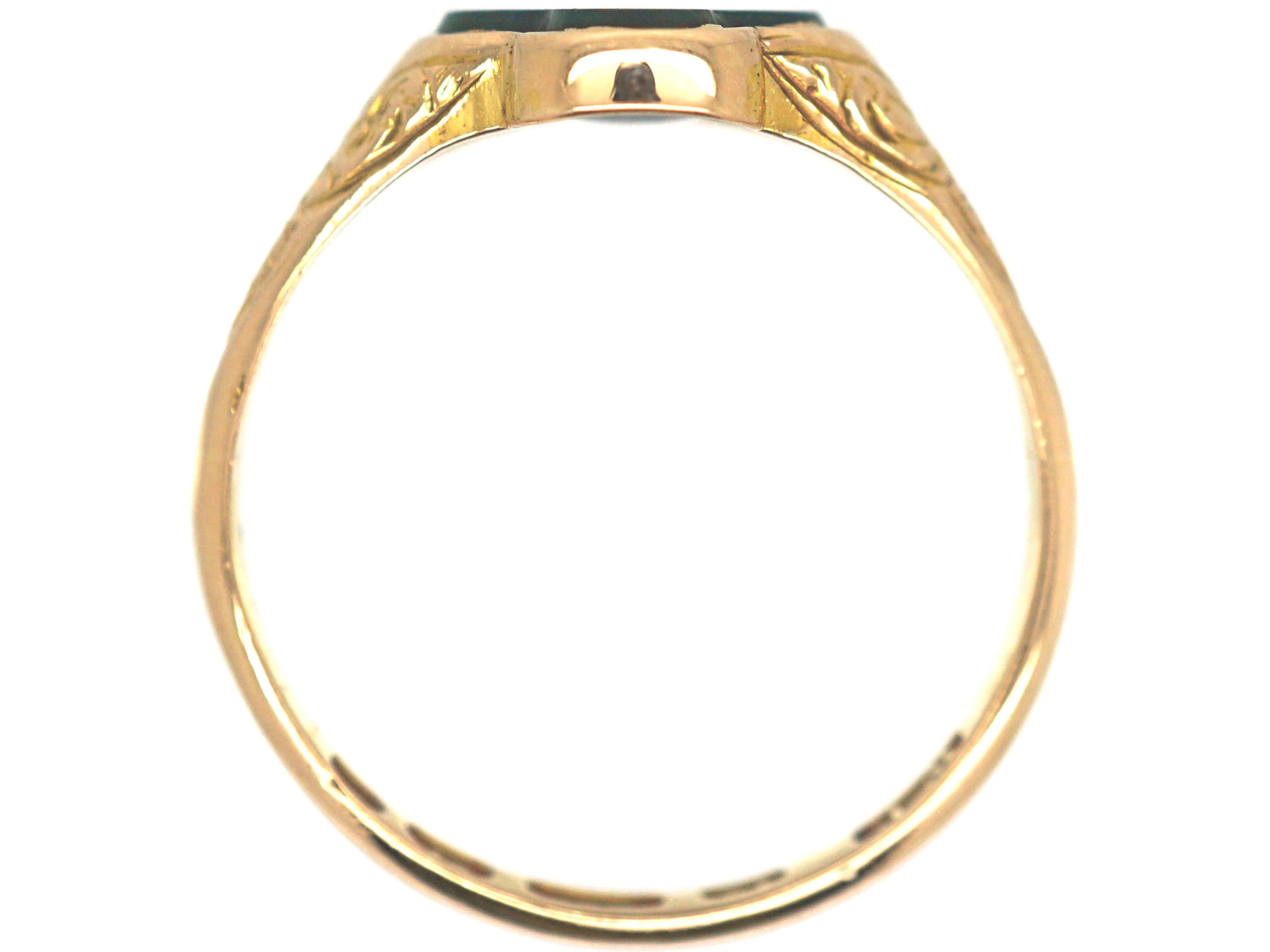 Victorian 15ct Gold & Bloodstone Quatrefoil Ring