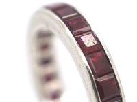 Art Deco French Platinum & Ruby Eternity Ring
