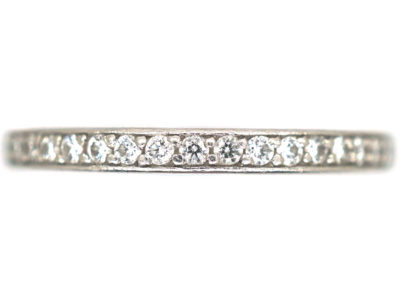 Platinum & Diamond Narrow Eternity Ring