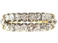 Georgian Two Row Old Mine Cut Diamond Ring