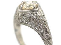 Art Deco Style Platinum & Diamond Ring