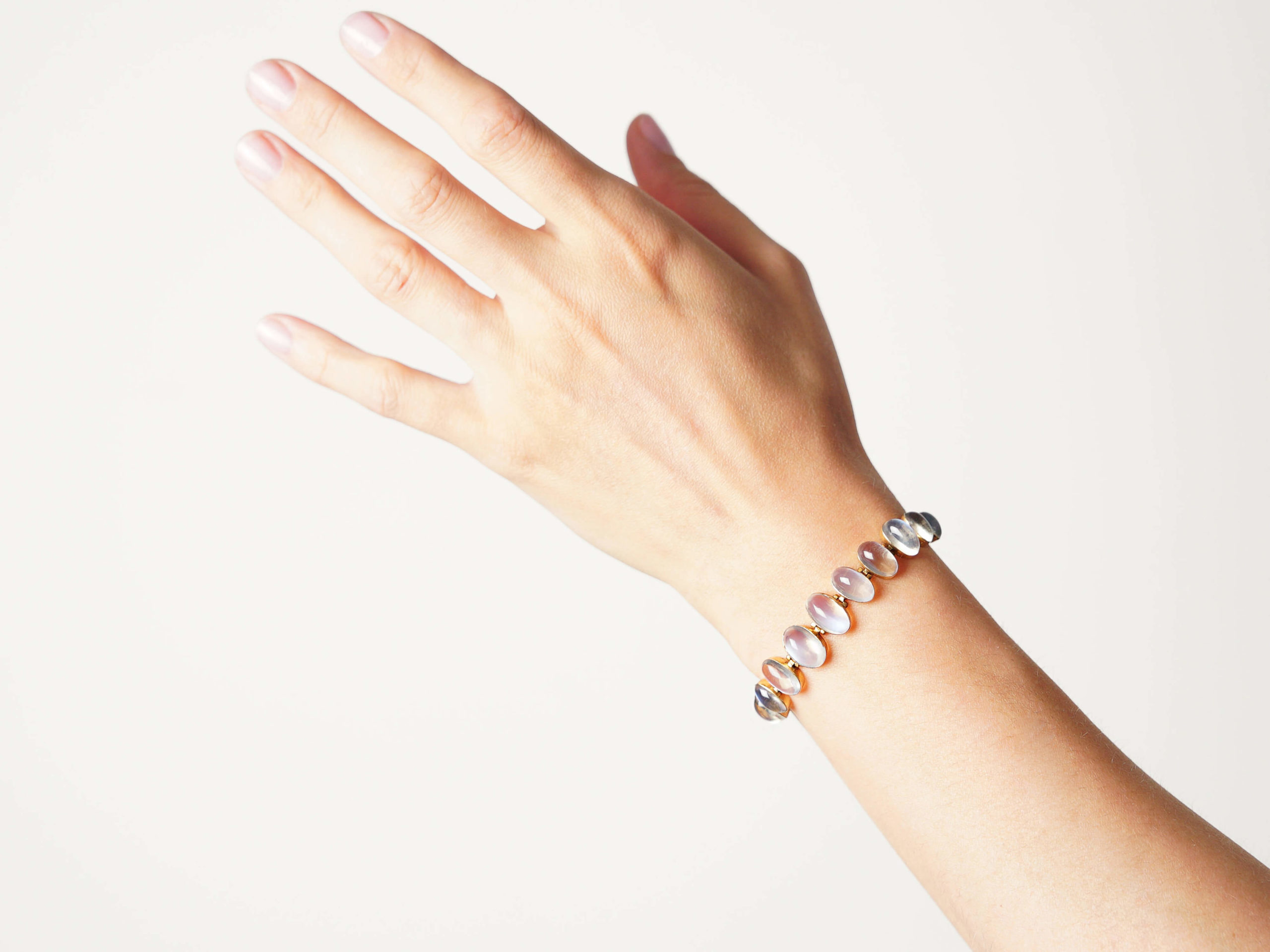 Edwardian 9ct Gold Moonstone Bracelet