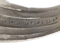 Art Deco Iridium & Platinum, Sapphire & Diamond Five Row Ring