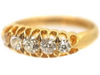 18ct Gold Edwardian Five Stone Diamond Ring