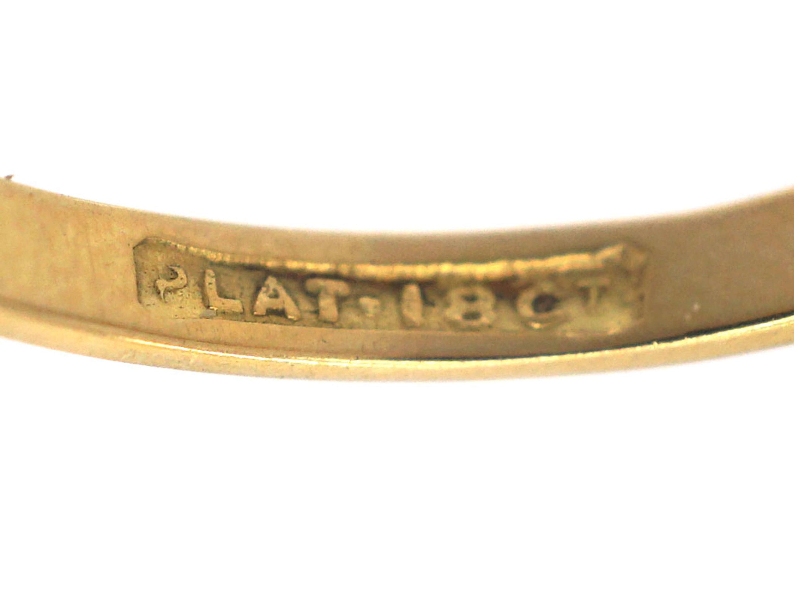 Art Deco 18ct Gold & Platinum Diamond Solitaire Ring