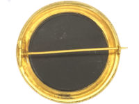 Victorian 18ct Gold Pietra Dura Cat Brooch