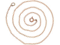 Edwardian 9ct Gold Trace Link Chain
