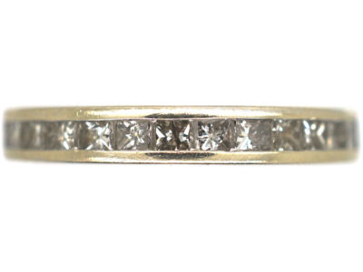 18ct White Gold & Square Cut Diamond Eternity Ring