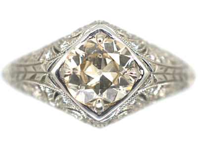Art Deco Style Platinum & Diamond Ring
