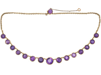 Edwardian 18ct Gold & Amethyst Necklace