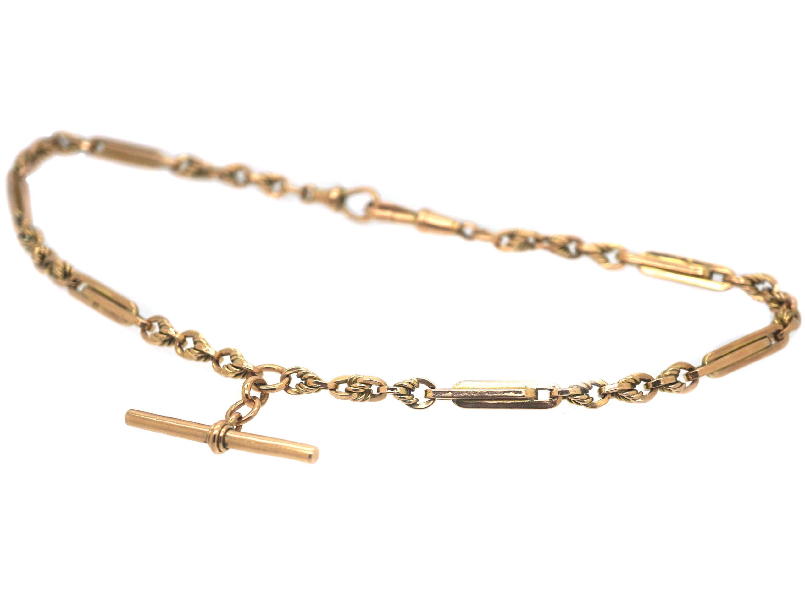 Edwardian 9ct Gold Fancy Albert Chain