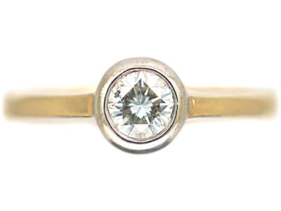 14ct Gold & Diamond Solitaire Ring