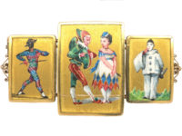 Victorian 18ct Gold Harlequin & Clown Circus Brooch