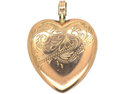 Edwardian Heart Shaped 9ct Gold Locket