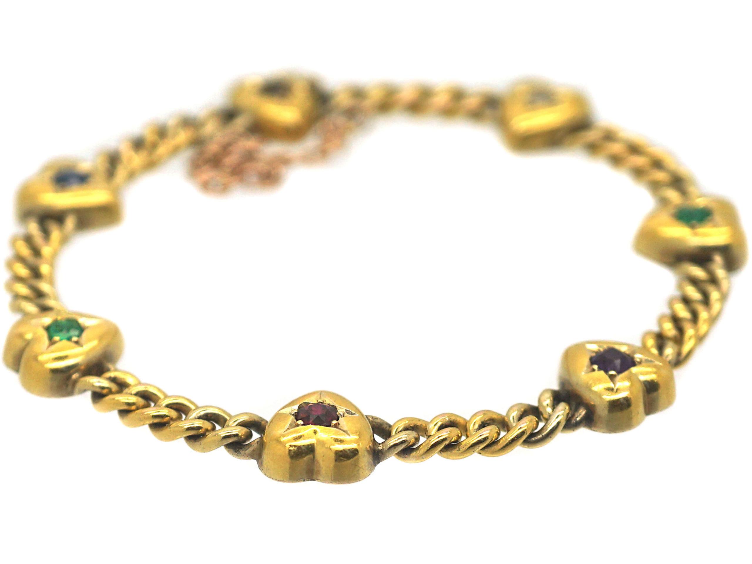 Victorian 15ct Gold Dearest Bracelet
