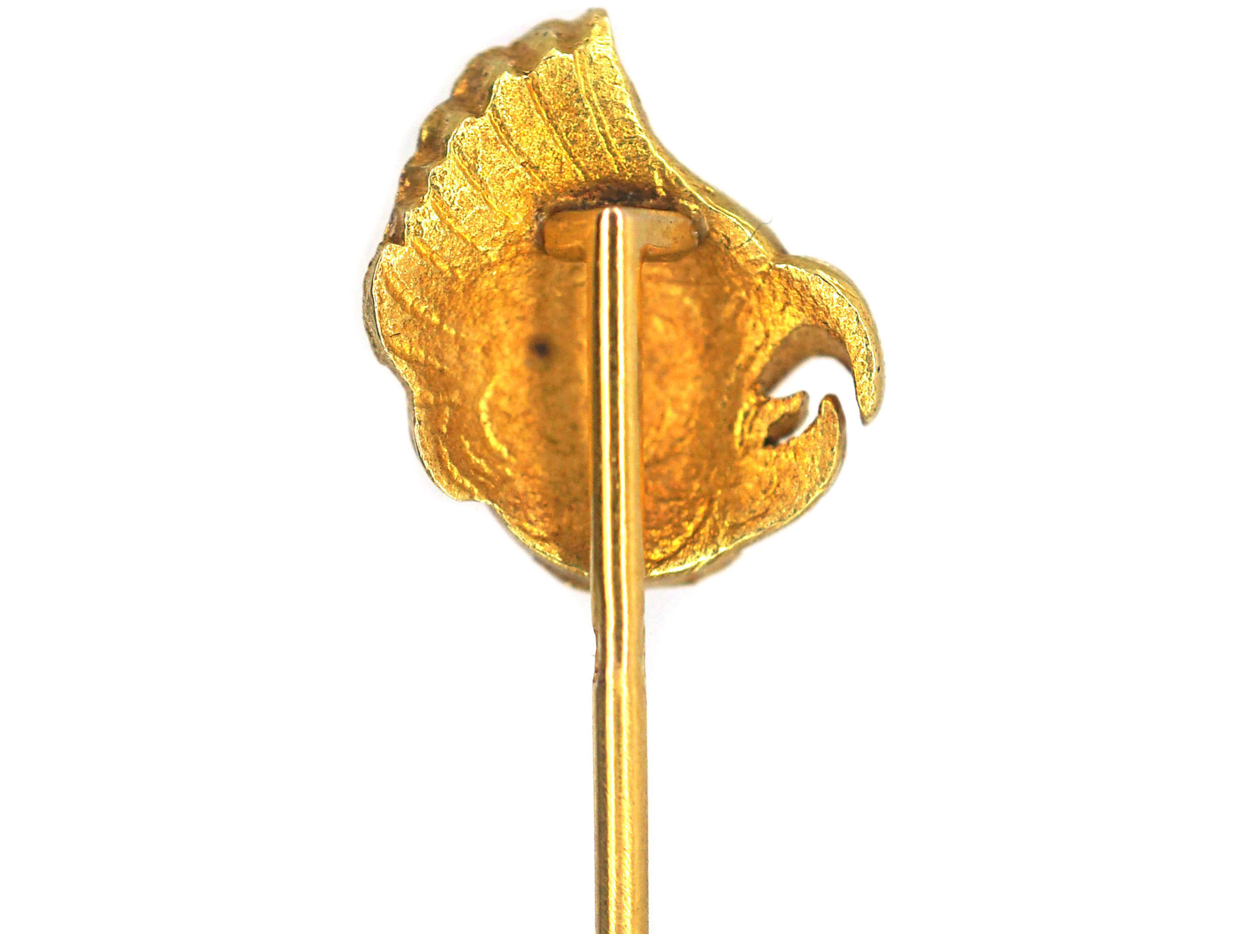 French 18ct Gold Cockerel's Head Tie Pin