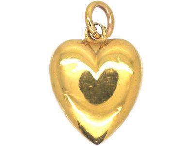 Edwardian 15ct Gold Heart Pendant